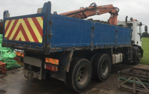 grab wagon for deliveries and waste earth removal