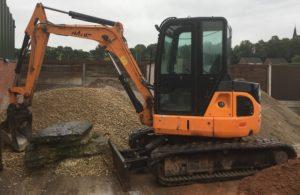 Orange 5 Tonne Excavator