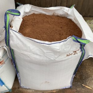 Bulk bag of red building sand